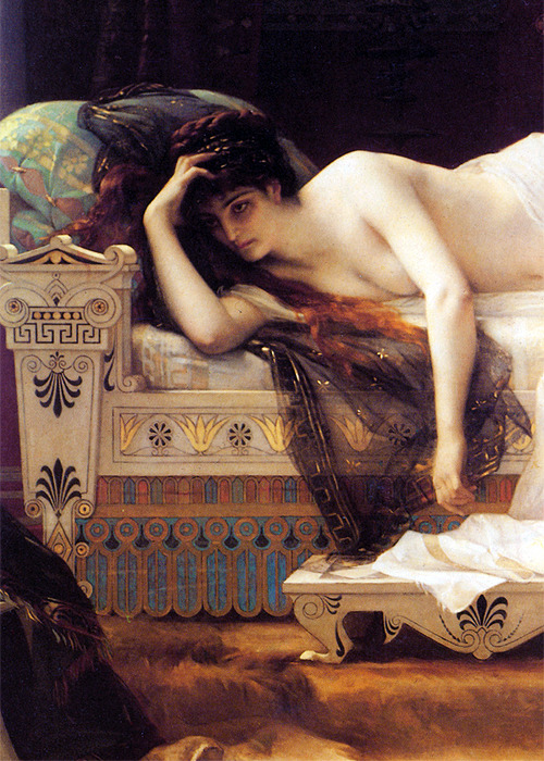 a-tropa:   Phedre (detail) by Alexandre Cabanel (1823-1889) oil on canvas, 1880  Hey, it's me!