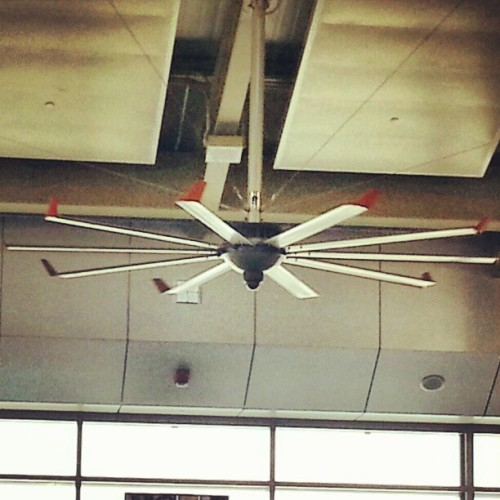 Check out the @Big_Ass_Fans Fan at #NOLA airport that really is a big ass fan