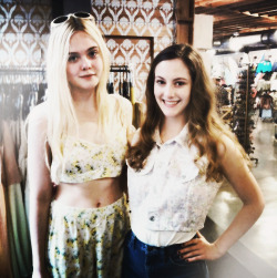 I just met Elle Fanning. She was very nice. (x)