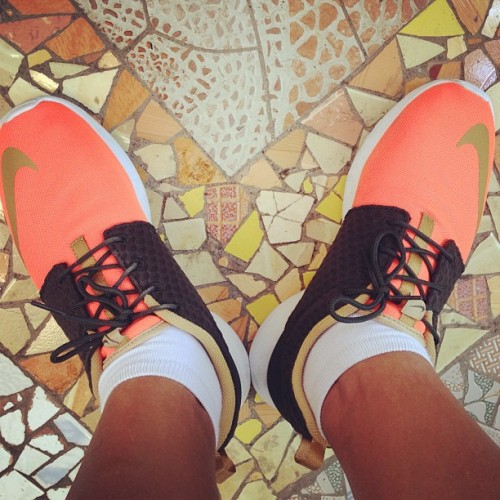 Blend in #nike #rosherun #roshe #orange  (at Rustic Mornings by Isabelo Garden)