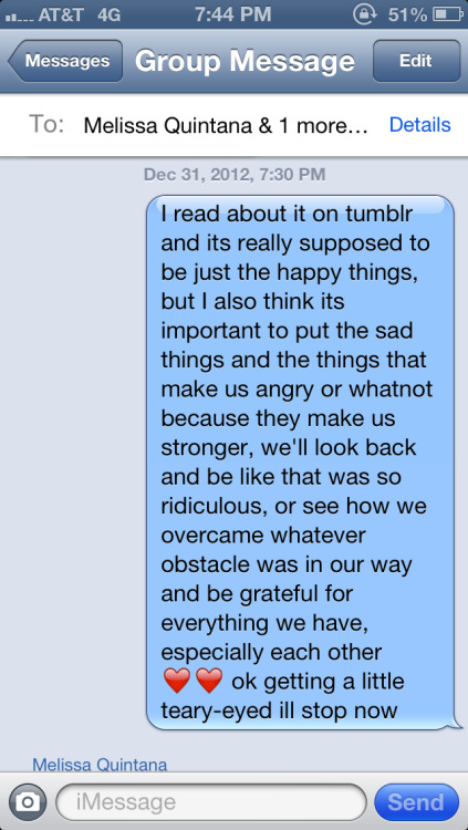 I believe I was quite wise here and I like what I said so here ya go. It's about the new year notes jar (:
