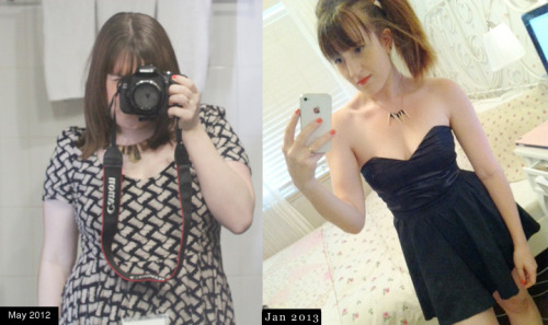 beforeandafterfatlosspics:  melodyjosie Height: 154cm (5'0)SW: 70kg (154lbs)CW: 52kg (114lbs)Took 7 or 8 months to lose 18 kilos (39lbs) with exercise and clean eating.