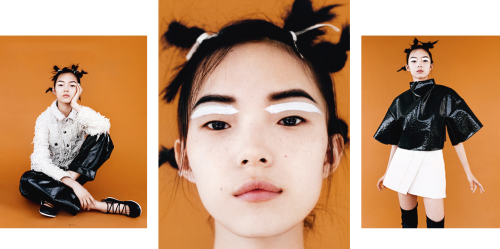 Xiao Wen Ju styled by Poppy Kain and photographed by Angelo Pennetta for i-D Magazine