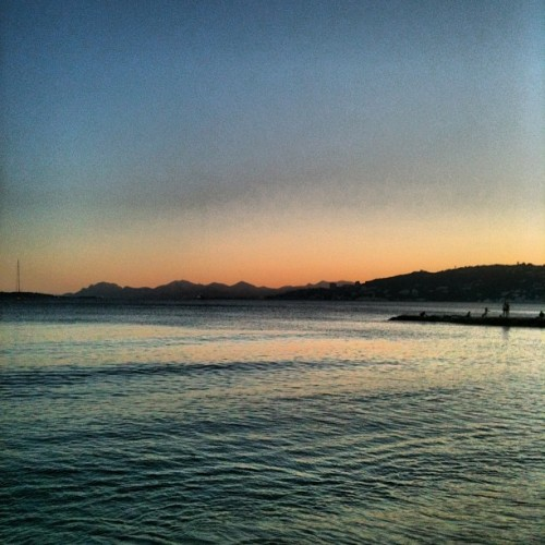 #france #juanlespins DUSK IN JUAN LES PINS