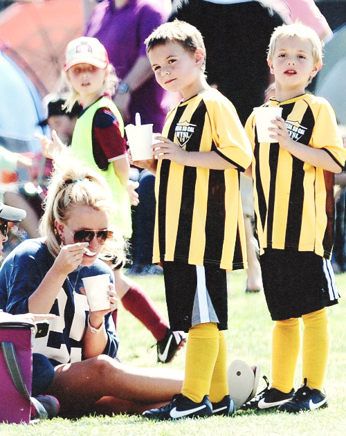 mybaby-itsyou:  April 21 - Queen at her Princes soccer game