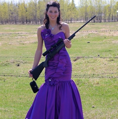 Here in Alberta, the girls get rifles as grad gifts. via imgur → more…