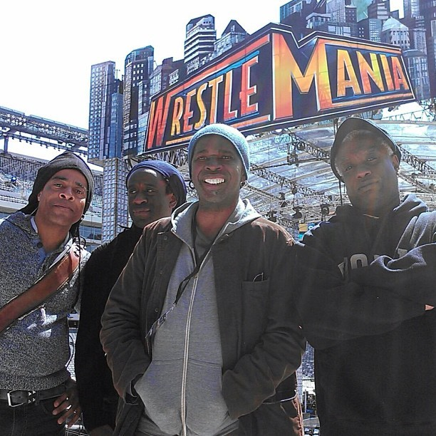 livingcolourmusic:  # LivingColour at #WrestleMania #DougWimbish #WillCalhoun #VernonReid #CoreyGlover