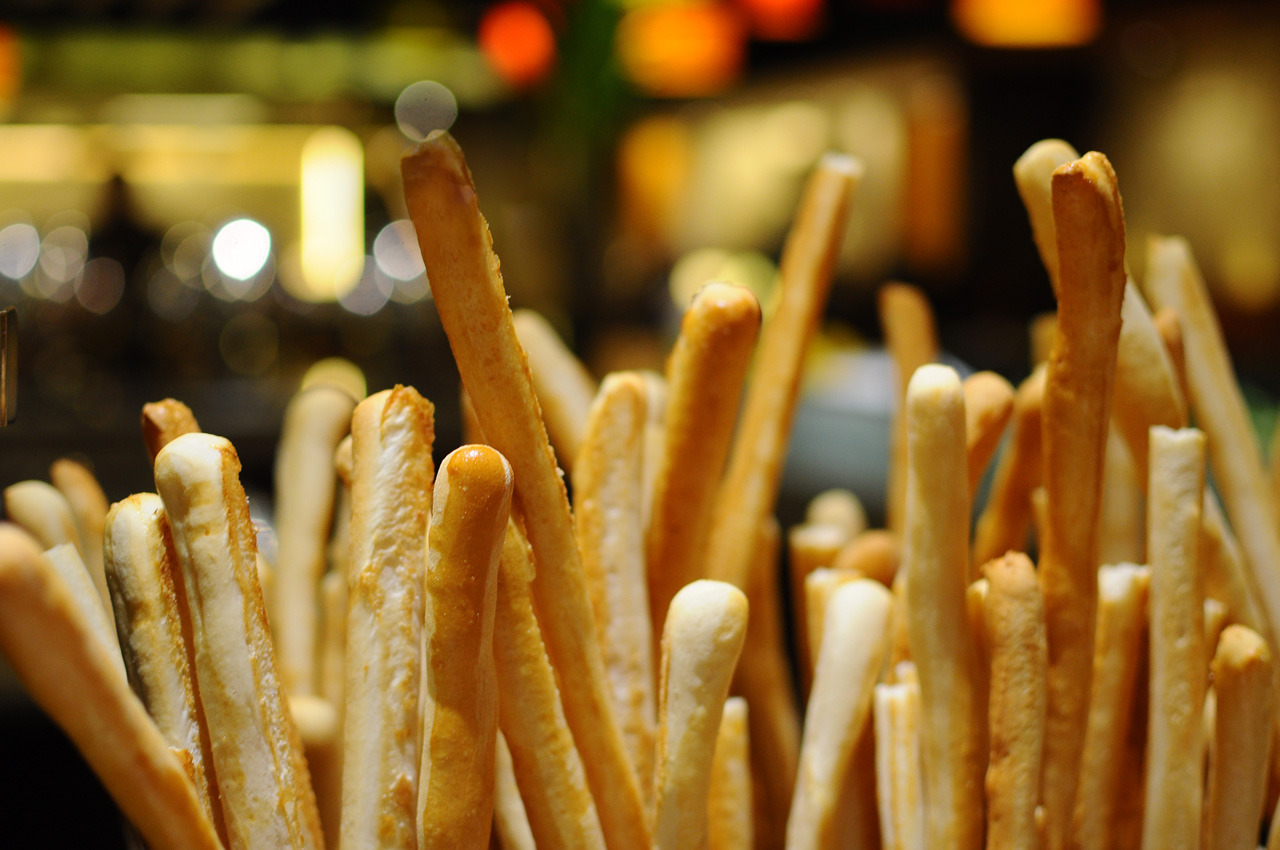 breadsticks and some bokeh