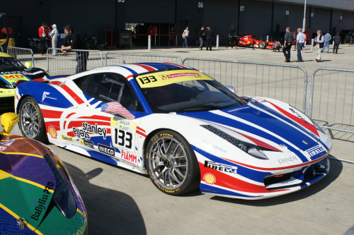 Howard Blank's Ferrari 458 Challenge of Team Motor/Piacenza after qualifying for Ferrari Challenge Trofeo Pirelli @Silverstone. Image by Ian Leech