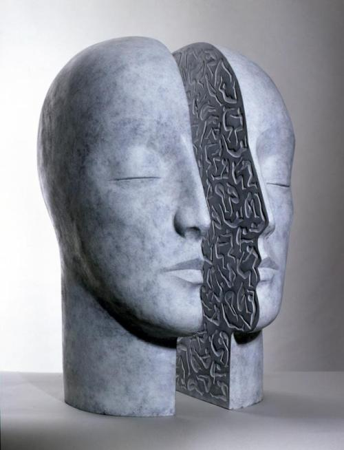 darksilenceinsuburbia:  Glenys Barton. Within, 2001. Bronze, 77.5 x 57 x 48 cm.