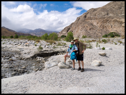 My hiking partners Lani & George.  Taken at Whitewater Preserve.