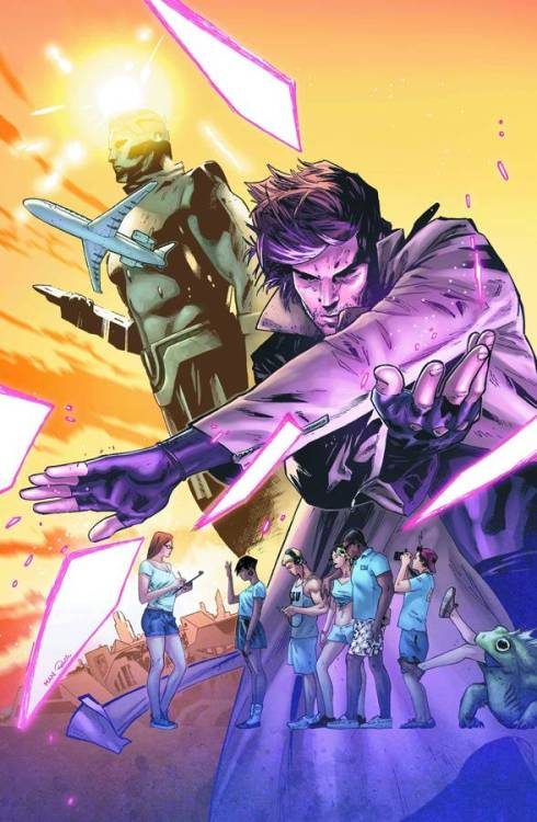 Market Monday Gambit #8, colored by Rachelle Rosenberg  Receiving a distress call from an imperiled ESU archaeology team, Gambit makes a detour on his way back to the Big Apple and heads to the Forever City! But how exactly will he outwit the hyper-evolved locals and snatch the students (and some loot) from their clutches?  ~Preview~