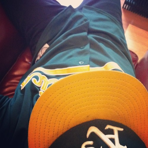 Ready for the game today. Oakland, STAND UP!!! #baseball #mlb #oaklandathletics