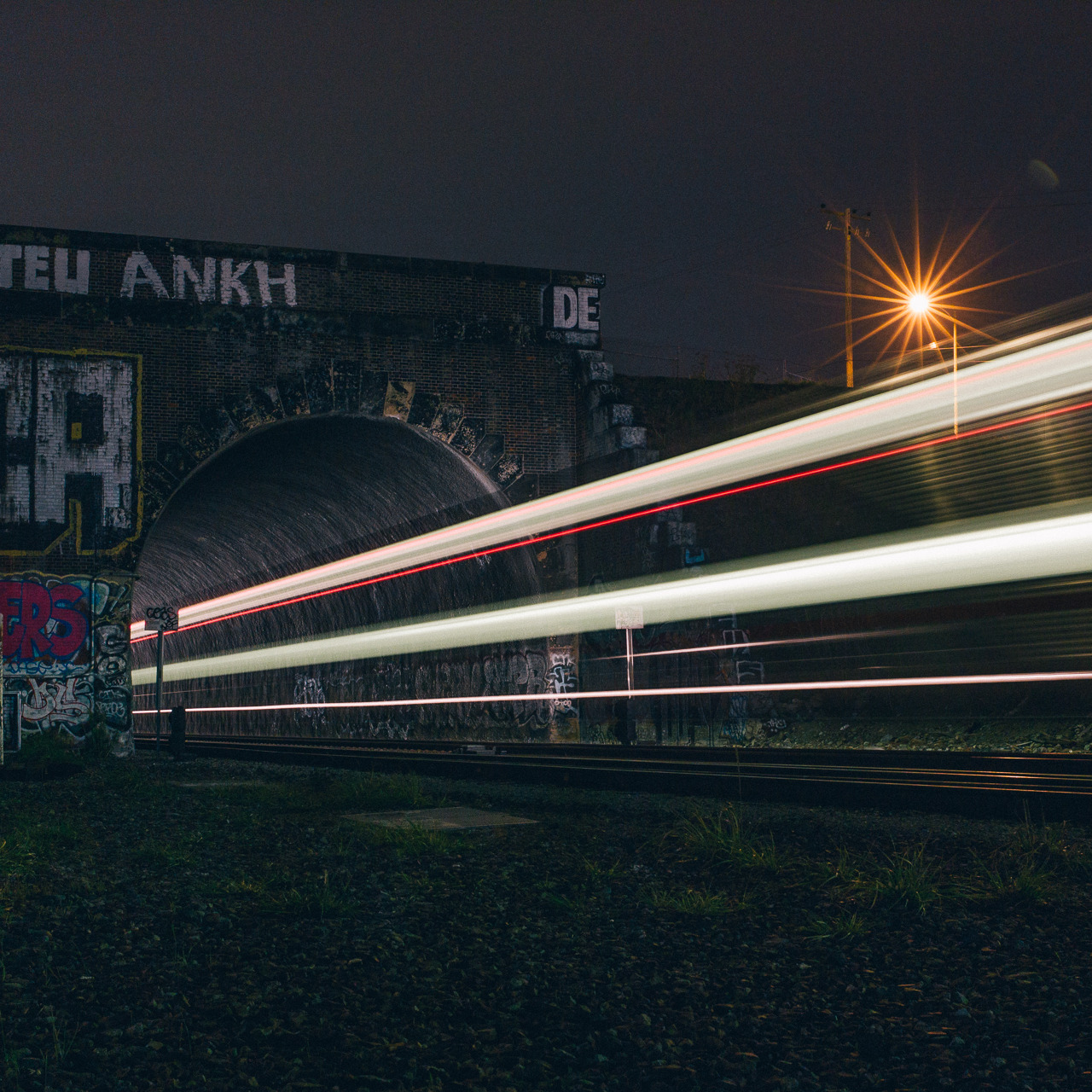 Another long exposure train photograph from my night with Nick and Aaron.