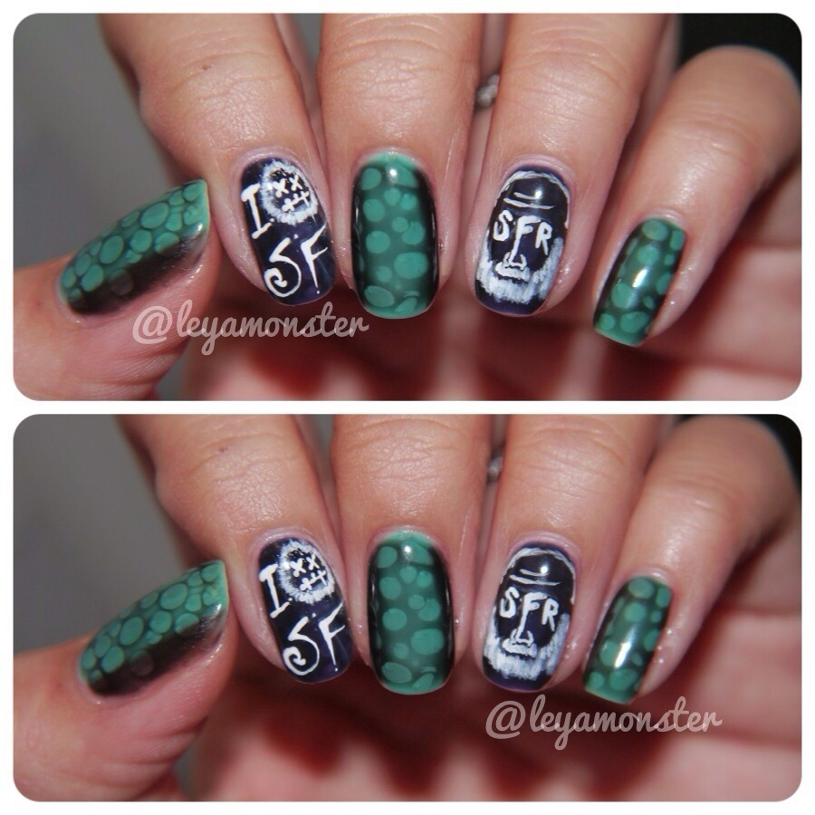 Nail art inspired by the incredible Sage Francis.