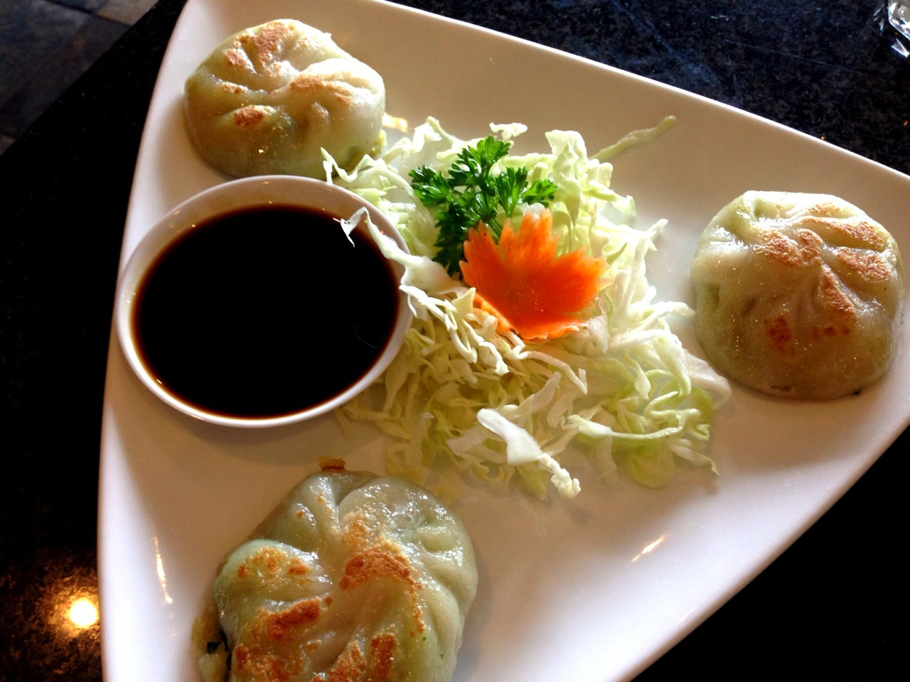 Decent chive dumplings from Siam Thai in Park Ridge. -Gastrodamus