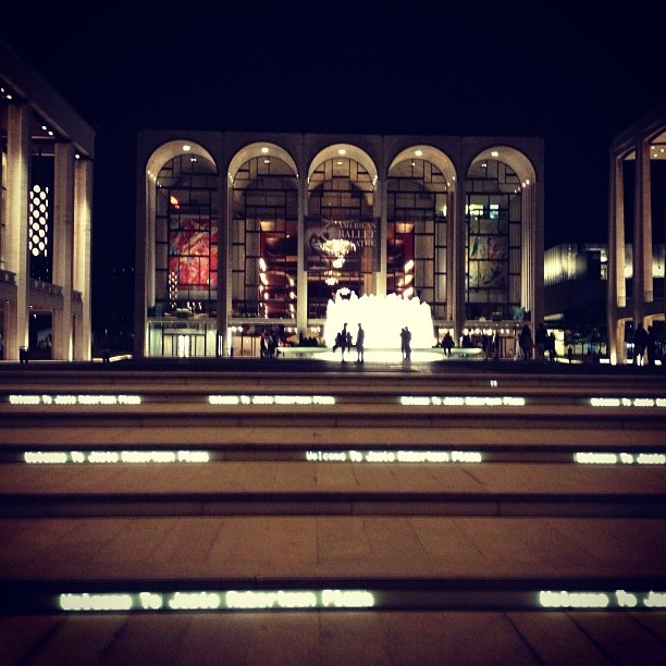 at Lincoln Center Plaza (Josie Robertson Plaza)