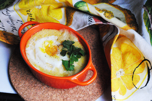 fattributes:  Baked Cheesy Grits and Eggs
