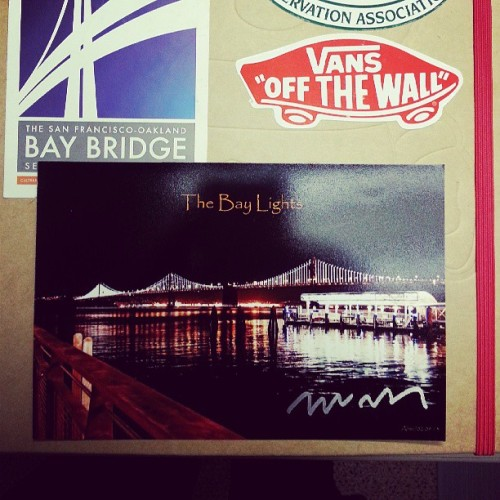 Leo Villareal the architect for the Bay Lights project signed this for me. #enginerd