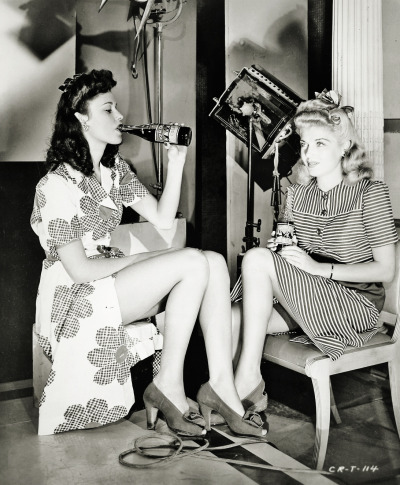 vintagegal:  On the set of The Powers Girl (1943)