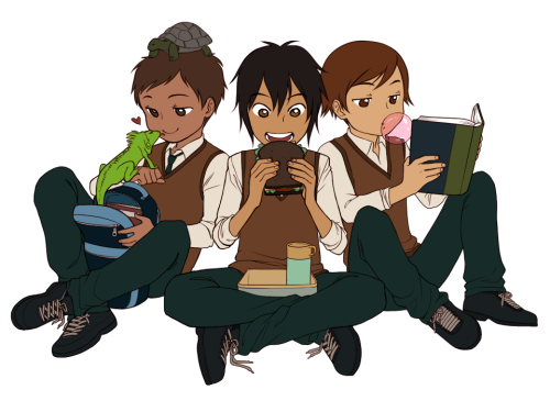 zu-art:  Andean latin boys at lunch time in school or something~  THIS IS PERFECT (omg pancho your little animals sdfliuhsdif)