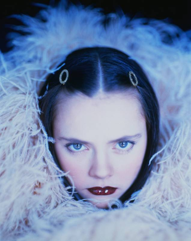 crystallizations:  Christina Ricci photographed by Rick Ockenfels, 1995.