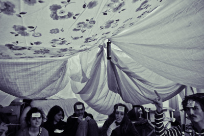 What's better than 20 people in a blanket fort on a rainy day?