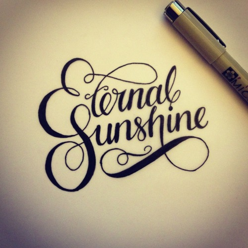 "morningtype:  Unknown - ""Eternal Sunshine"" Via betype"