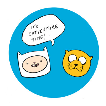 Finn & Jake Cats by Celia