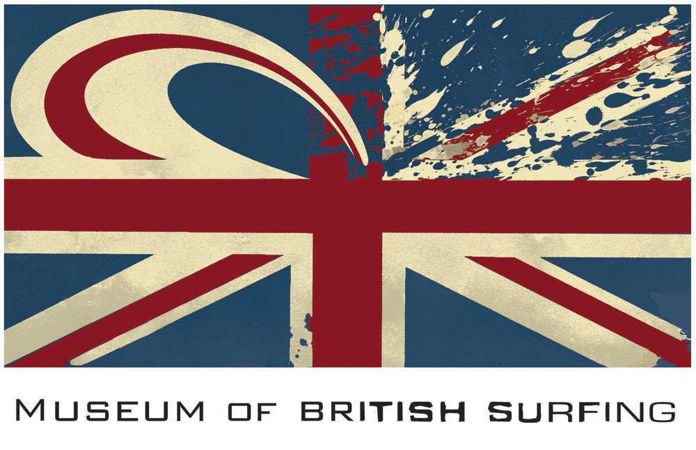 Museum of British Surfing Logo. Art Direction by Richard Gregory @ Wavedreamer Design by philipbridgesdesign