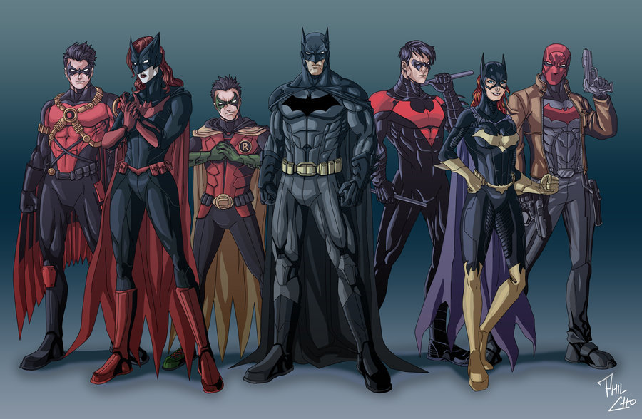 batwomanbeyond:  Bat Family Reboot by ~qBATMANp