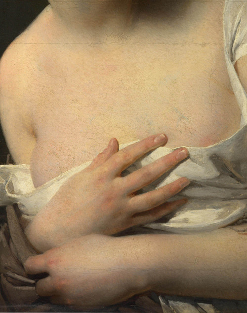 (Detail) The Surprise,1827, Claude-Marie Dubufe.