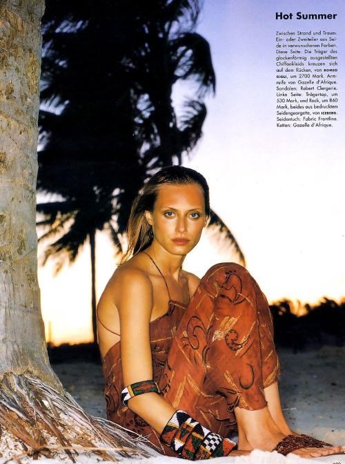 "80s-90s-supermodels:  ""Hot Summer"", Vogue Germany, June 1999Photographer : Grey ZisserModel : Ruza Madarevic"