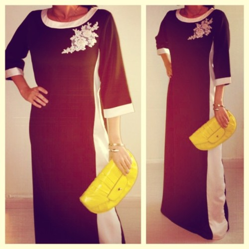 Jeddah client - hurry ladies order ur thobes now & send us ur pix 💙💙 Lati ships worldwide! To order email: lati@lati-fashion.com or 📞+966 1 211 1078 #black&white #ramadan #thobe #fashion #lum @lati_fashion #لاتي  ❤❤❤ client styled by the amazing stylist @hala_alharithy ❤❤❤