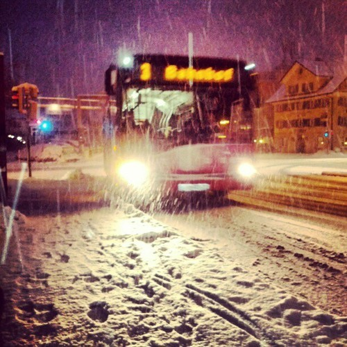 i love snooooow #winter #traffic #instagram
