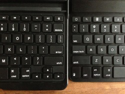 Zaggfolio keyboard left, Mini 9 right