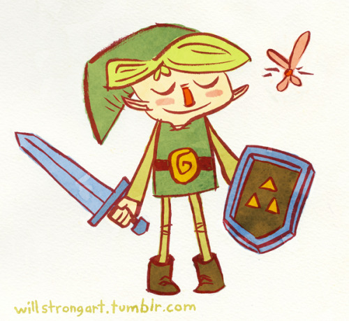 willstrongart:  My favorite green hero. I did a bunch of different color treatments for this image. The simplest one ended up the best.  My friend, Will Strong, has a super appealing style.