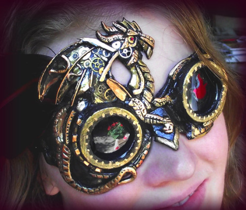 autekillah:  Steampunk, Clockwork Dragon Goggles.