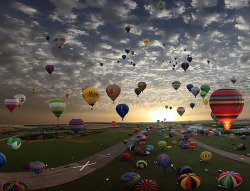 waldorfsdesigns:  I Will Live - The largest hot-air balloon gathering in the… on We Heart It - http://weheartit.com/entry/3328626/via/Timesrun