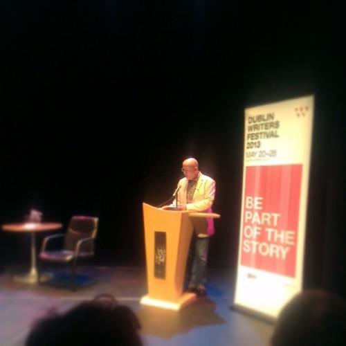 "Roddy Doyle reading ""Animals"" from his collection 'Bullfighting' @dublinwritersfestival #dwf2013"