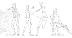 rockboci:  A sketch of the the characters from Borderlands 2. YEAH! I can't draw anything else at the moment. lol Did I mention I can't draw at all? Then I'm legally obligated to tell you that I ain't a real artist. lolwut (imnotevenanartistbytheslightest)  I see what you did there ;D