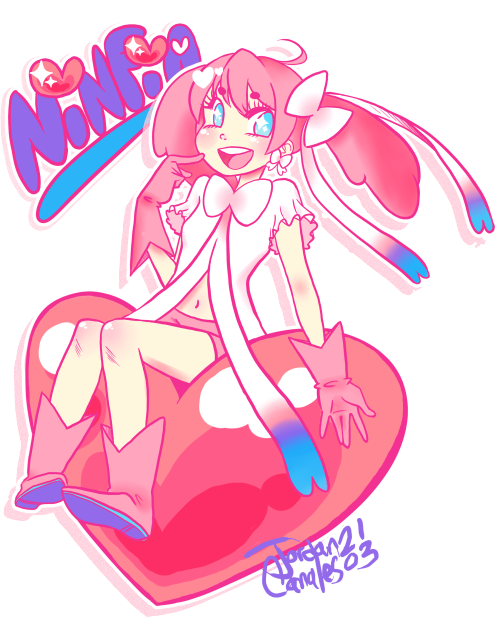 ninfia gijinka but if the gijinka was a magical girl wow !!!