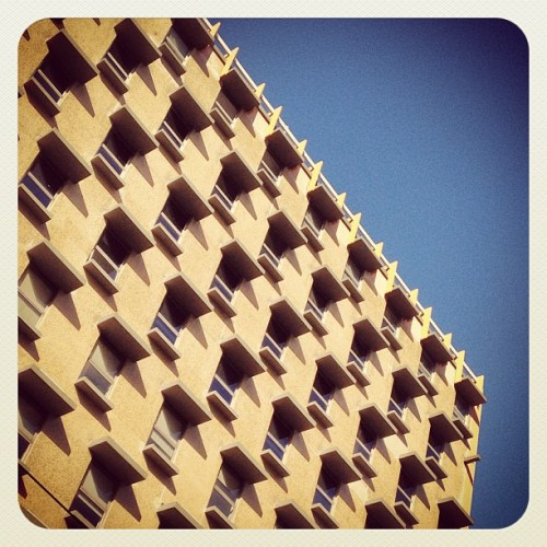 Love the shadows on this building on Bourke St   #architecture #melbourne