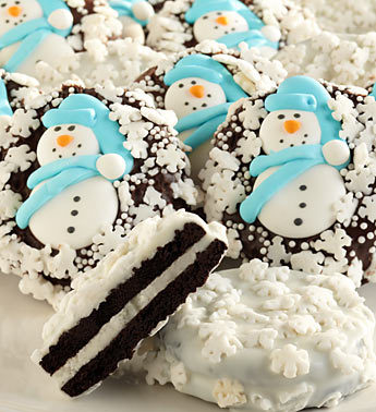 thecakebar:  Snowflake Belgian Chocolate Covered Oreo® Cookies