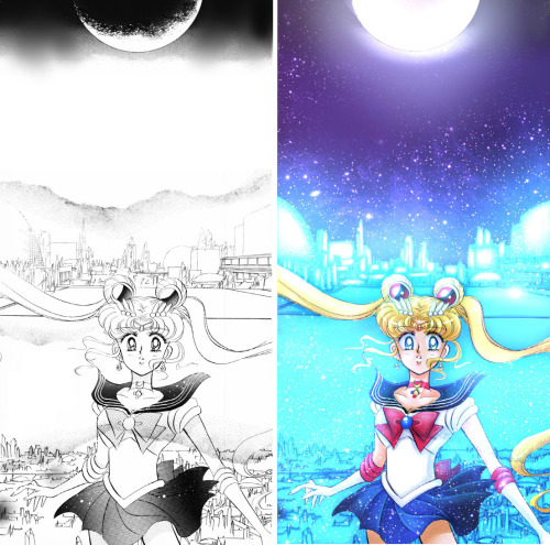 samblackrabbitart:  Sailor Moon Manga color-overArt (c) Naoko Takeuchi Colors by me :)