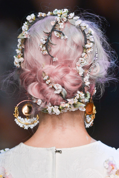 photography hair fashion catwalk dolce & gabbana jewelled 2013-2014 jewelled catwalk hair