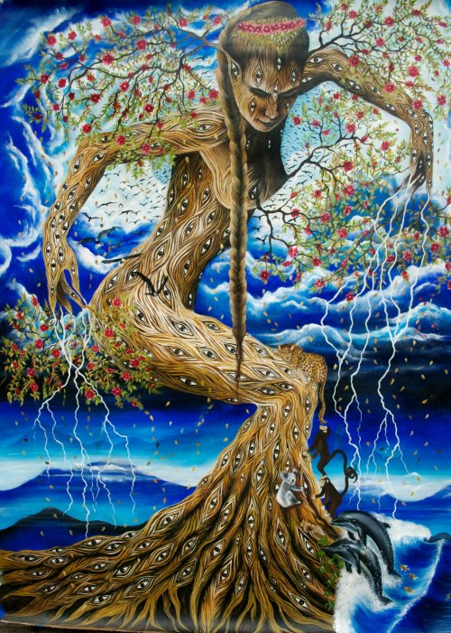 Gaia by Lisette Alcalde~ oil painting on canvas