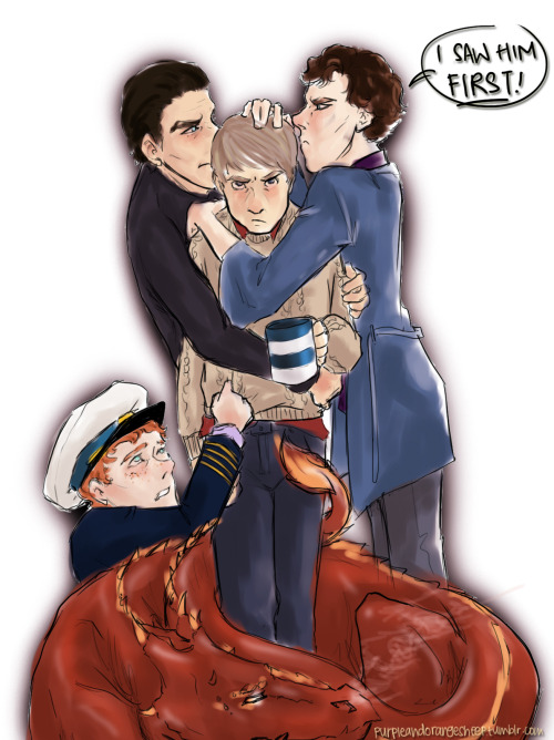 sherlocklovesjohnshobbittrot:  purpleandorangesheep:  Everyone wants a John of their own.  I don't have a rational explanation for this.  Cheers.   OMG Smaug!!