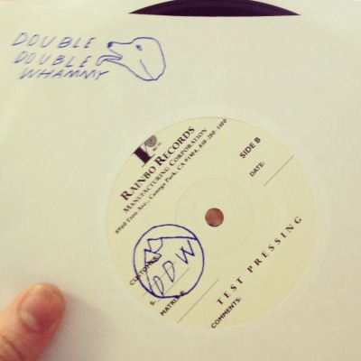 "Test presses for LVL UP's Extra Worlds 7"" are in and they sound great! We have one extra pressing so anyone who pre-orders a 7"" from us before the release date of April 6th will be entered into a lottery for this bad boy! Officially stamped by yours truly!"