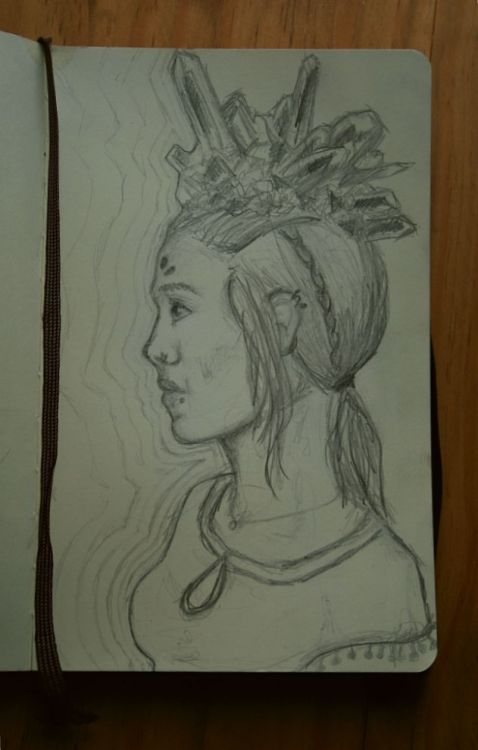 Original graphite drawing in my moleskine